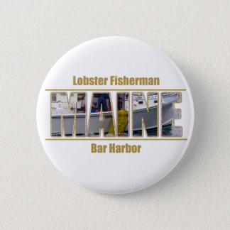 メインのイメージの文字シリーズ-ロブスターを捕る漁師 5.7CM 丸型バッジ
