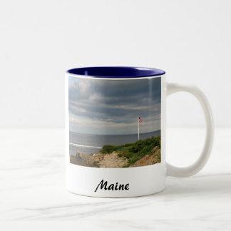 メインのコーヒー・マグ ツートーンマグカップ