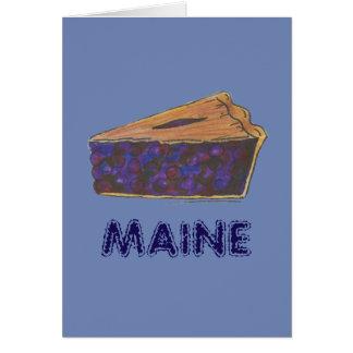 メインのブルーベリー・パイの切れの部分のベーキングのグルメの青 カード