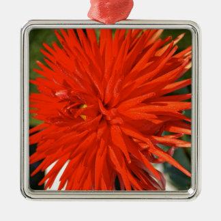 メインのミイラの華麗で赤い花 メタルオーナメント