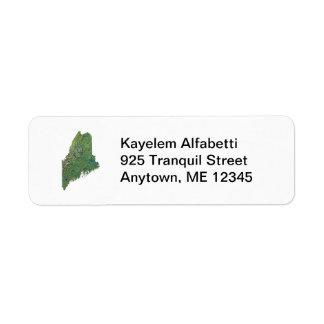 メインの地図の差出人住所ラベル ラベル