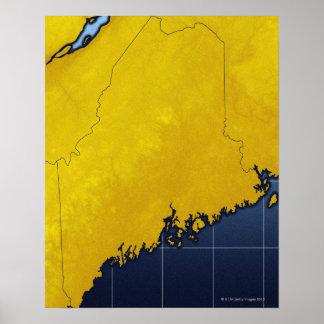 メインの地図 ポスター