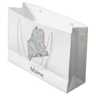 メインの地図 ラージペーパーバッグ