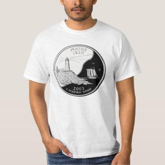 メインの州の四分の一のTシャツ Tシャツ