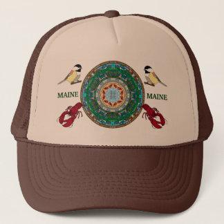 メインの州の曼荼羅の帽子2 キャップ