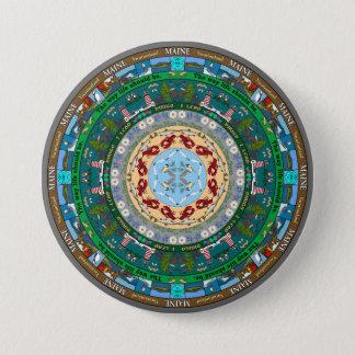 メインの州の曼荼羅Pin 7.6cm 丸型バッジ