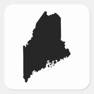 メインの州の輪郭 正方形シール・ステッカー