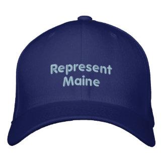 メインの帽子を表して下さい 刺繍入りキャップ