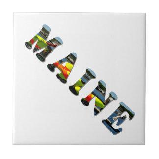メインの手紙 正方形タイル小