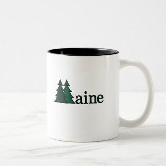 メインの松の木 ツートーンマグカップ