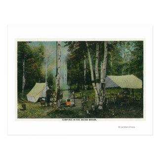 メインの森のキャンプ場のMaineView ポストカード