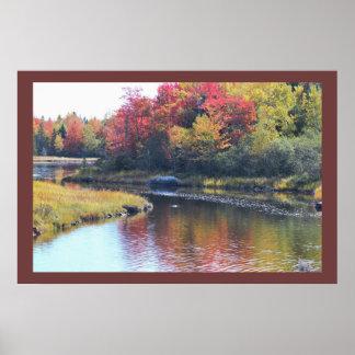 メインの水による秋 ポスター