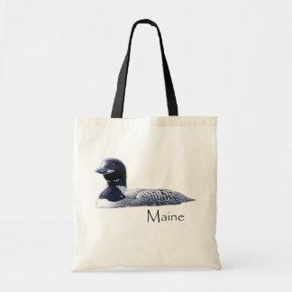 メインの水潜り鳥 トートバッグ
