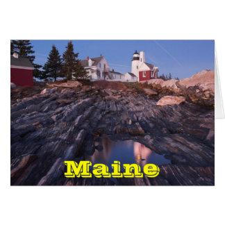 メインの海岸のPemaquidポイント灯台 カード