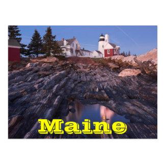 メインの海岸のPemaquidポイント灯台 ポストカード