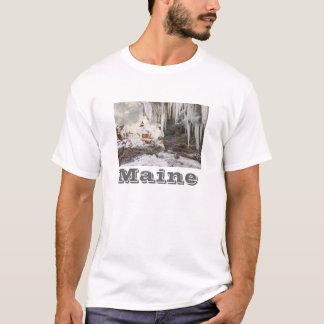 メインの海岸のPemaquidポイント灯台 Tシャツ