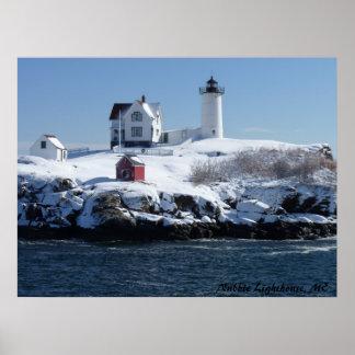 メインの灯台4 ポスター