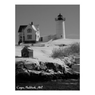 メインの灯台6 ポスター