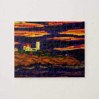 メインの灯台 ジグソーパズル