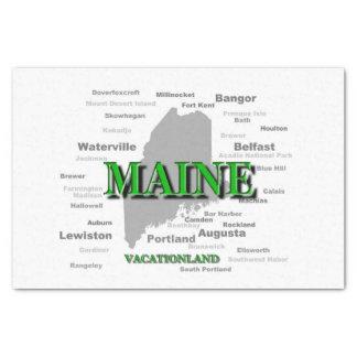 メインの都市および町の州のプライドの地図 薄葉紙