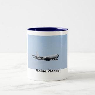 メインの飛行機 ツートーンマグカップ
