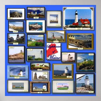 メインの22の灯台 ポスター