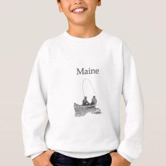 メイン米国(カヌーの魚釣り) スウェットシャツ
