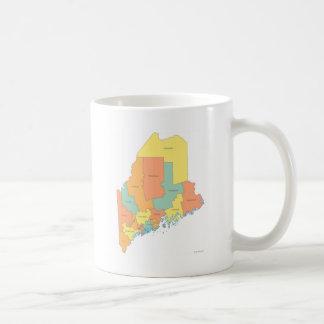 メイン郡地図 コーヒーマグカップ