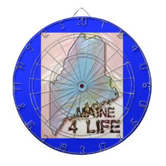 """""""メイン4生命""""の州の地図のプライドのデザイン ダーツボード"""