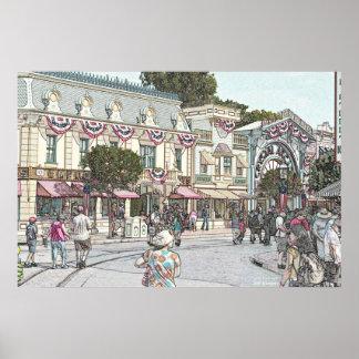 メイン・ストリート、AnyTown、米国 ポスター