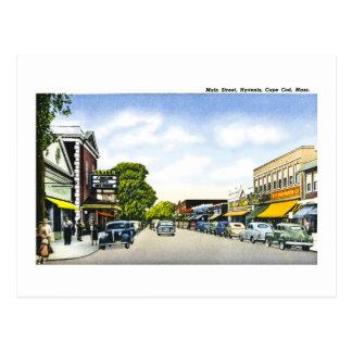 メイン・ストリート、Hyannisのケープコッド、マサチューセッツ ポストカード
