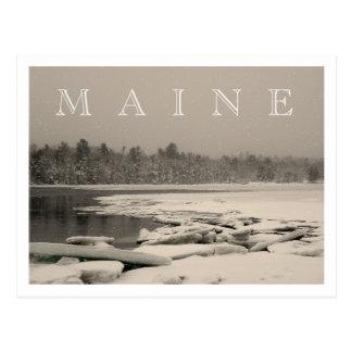 メイン-湾の冬 ポストカード