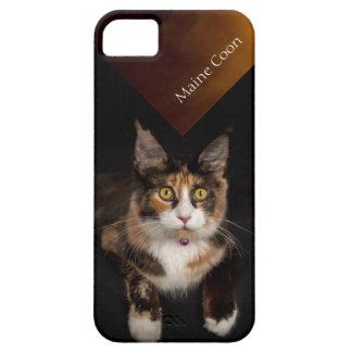 メインCoone猫の電話箱 iPhone SE/5/5s ケース