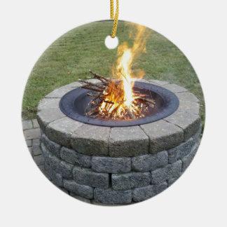 メインFirePits! 陶器製丸型オーナメント