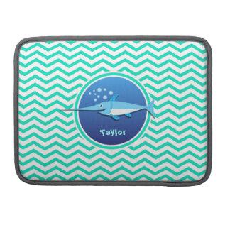 メカジキ; 水緑のシェブロン MacBook PROスリーブ