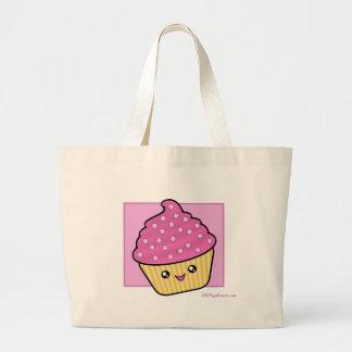メガかわいいのカップケーキのトートバック ラージトートバッグ