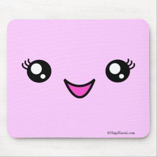 メガかわいいのガーリーな顔のマウスパッド マウスパッド