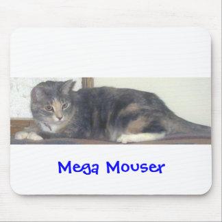 メガねずみを捕る猫 マウスパッド