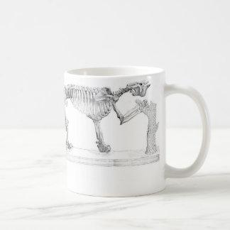メガテリウムの有史以前の動物の骨組 コーヒーマグカップ