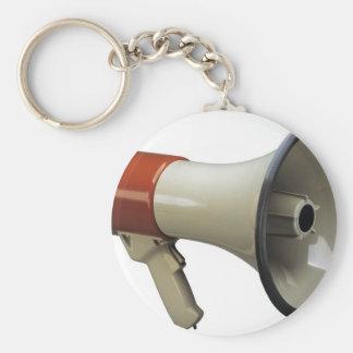 メガホン ベーシック丸型缶キーホルダー