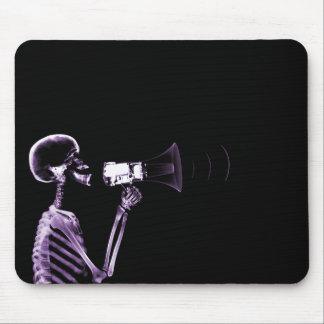 メガホン-紫色のX線の骨組 マウスパッド