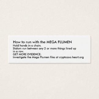 メガFLUMENと走る方法 スキニー名刺
