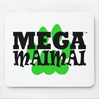 メガMaimaiの足のプリントの緑 マウスパッド