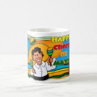 メキシコおもしろいのCinco deメーヨーのマグ コーヒーマグカップ