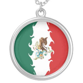 メキシコのすごい旗 シルバープレートネックレス