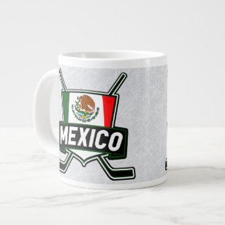 メキシコのアイスホッケーの旗のマグ ジャンボコーヒーマグカップ