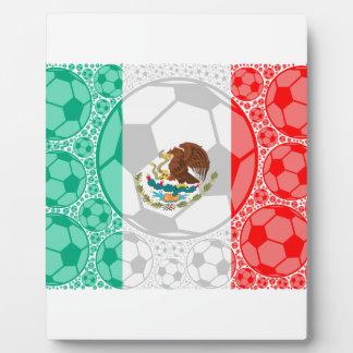 メキシコのサッカーボール フォトプラーク