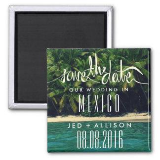 メキシコのビーチ結婚式の保存日付の磁石 マグネット