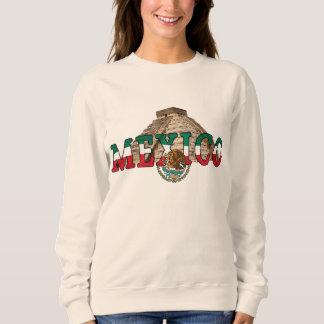 メキシコのピラミッドの女性の基本的なスエットシャツ スウェットシャツ