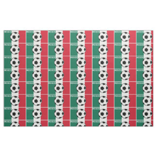 メキシコのフットボールの旗 ファブリック